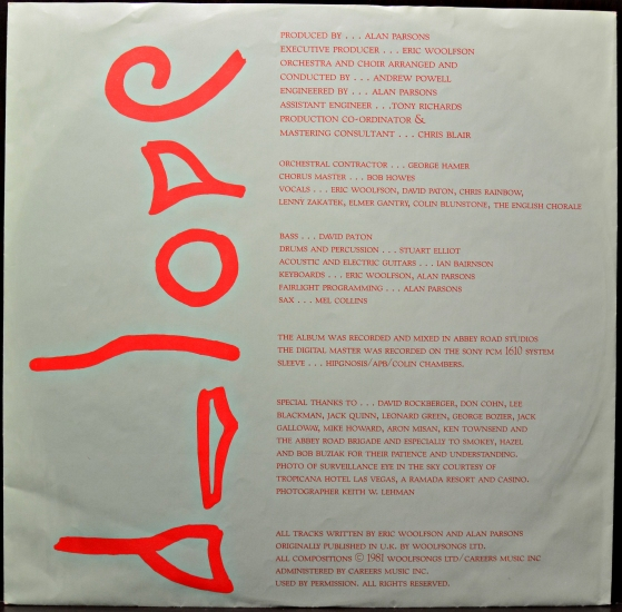 alan parsons project lyrics