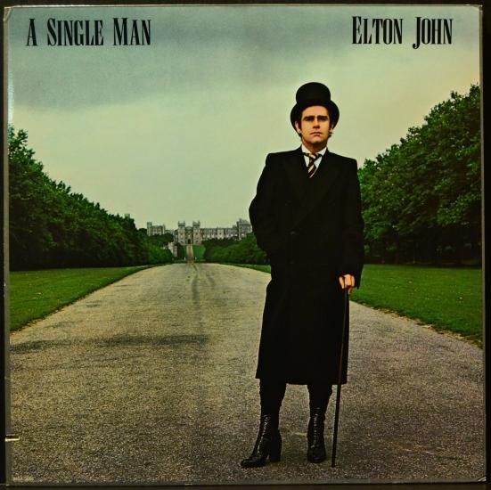 Elton John A Single Man Mca 3065 Lp Album Black Vinyl
