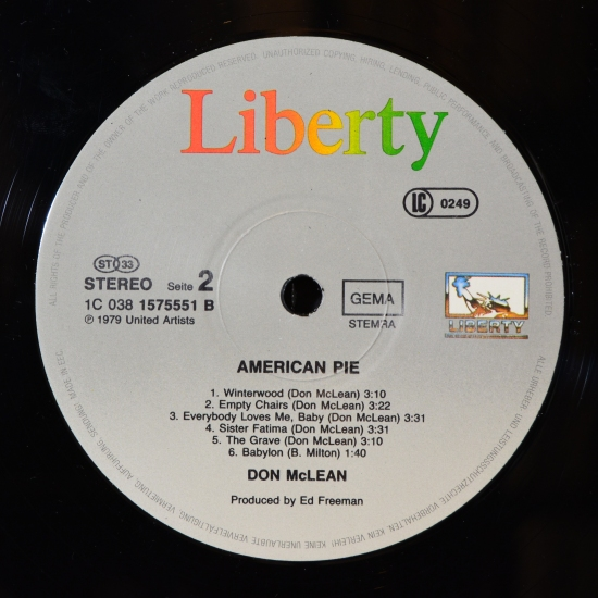 don mclean american pie 1c 038 1575551 lp album. Black Bedroom Furniture Sets. Home Design Ideas