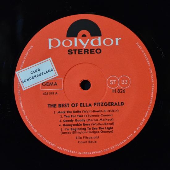 Ella Fitzgerald The Best Of Ella Fitzgerald H 826 Lp