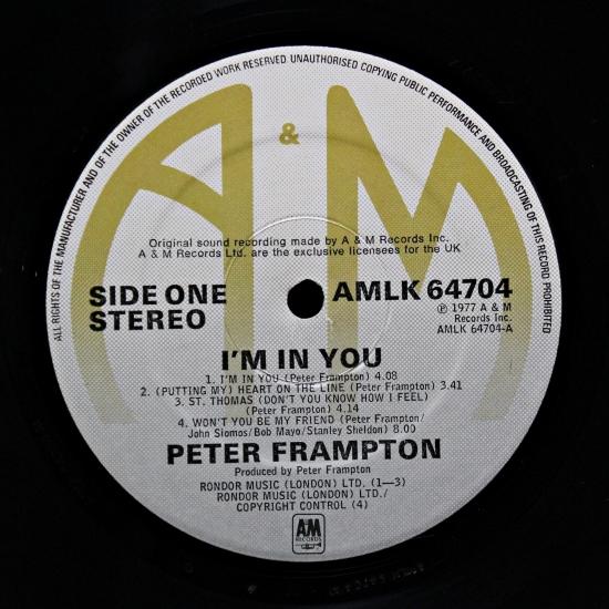 Peter Frampton I M In You Amlk 64704 Lp Album Black