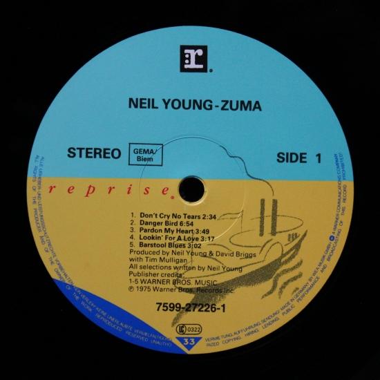 Neil Young With Crazy Horse Zuma 7599 27226 1 Lp Album