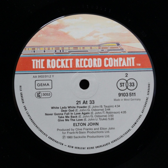 Elton John 21 At 33 9103 511 Album Black Vinyl Bazar Brno