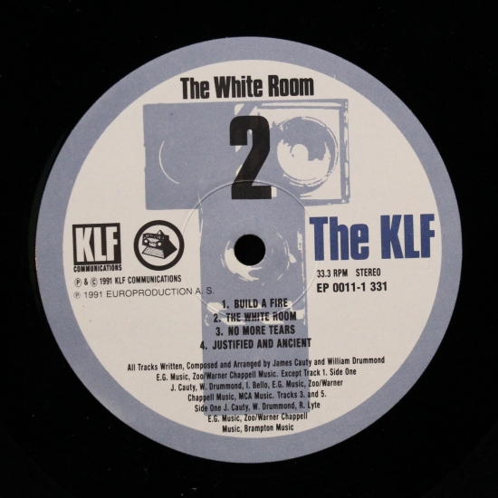 The klf the white room ep 0011 1 331 album black for 1991 house music