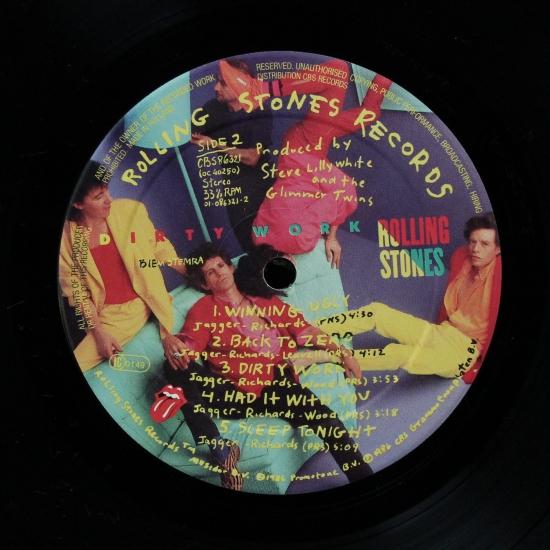 The Rolling Stones Dirty Work Cbs 86321 Album Black