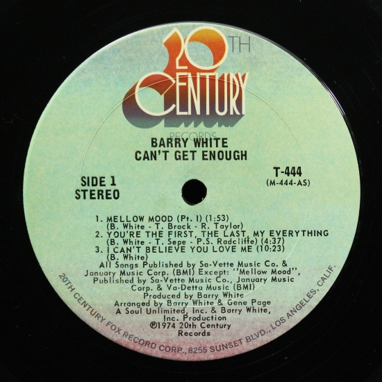 Barry White - Can't Get Enough T 444, Album