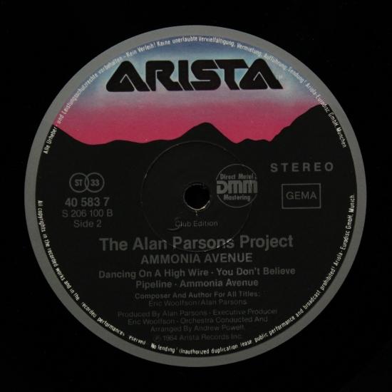The Alan Parsons Project Ammonia Avenue 40 583 7 Album