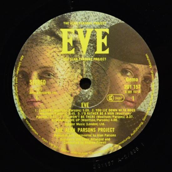 The Alan Parsons Project Eve 201 157 Lp Album Black