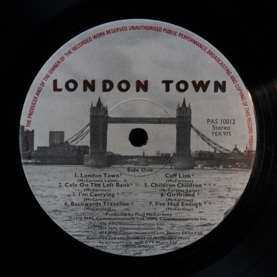 Wings - London Town PAS 10012, Album | BLACK VINYL BAZAR Brno