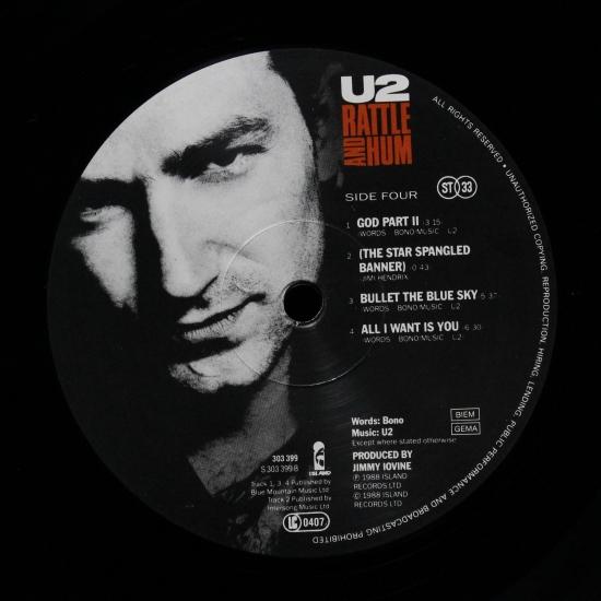 U2 - Rattle And Hum 303 400, 2 LP Album | BLACK VINYL